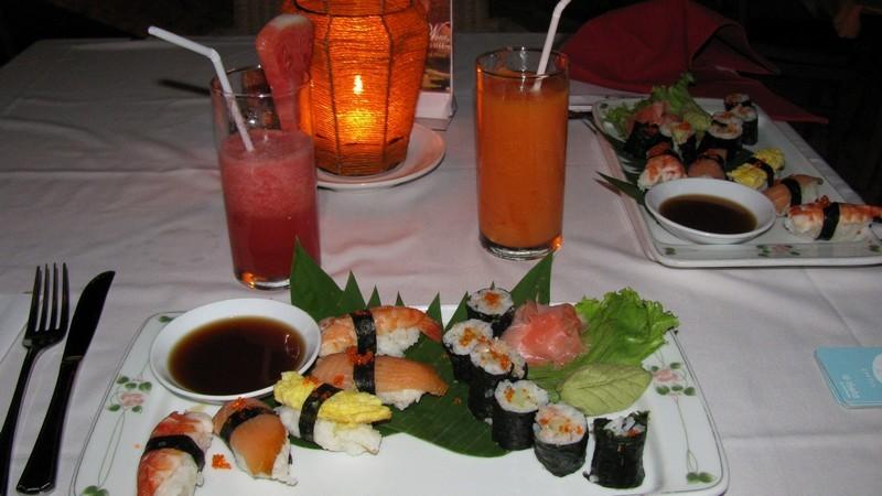 Суши и ролы на Бали.