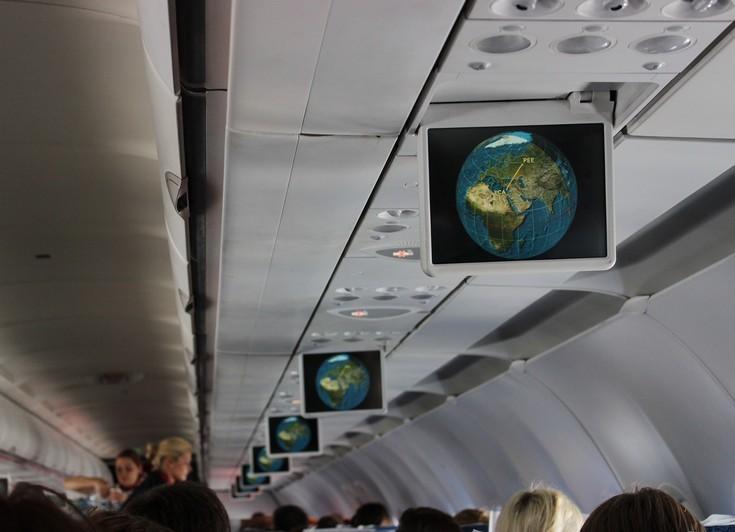 Карта полёта в самолёте. Пермь - Ларнака. Кипр.