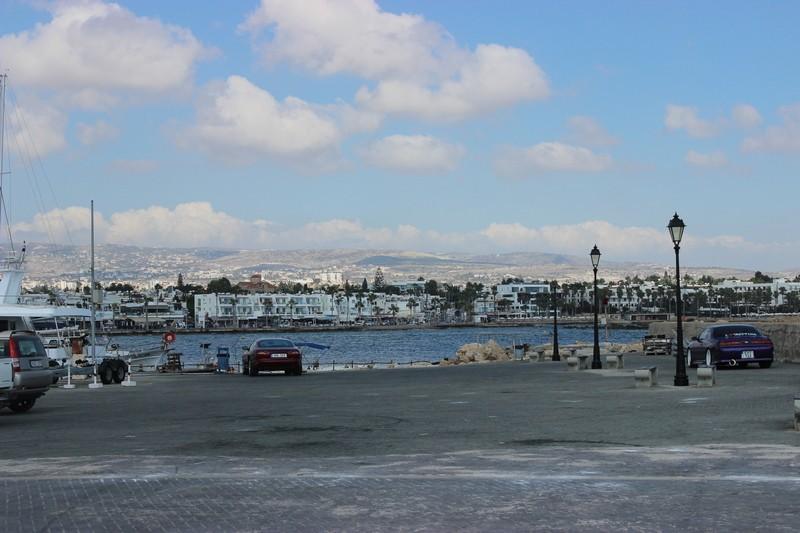 Порт в г.Пафос /Paphos Harbour and Port / .Вид на пристань. Кипр.