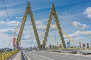 Мост Миллениум в Казани