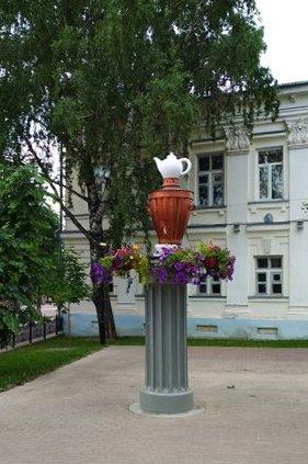 Памятник самовару / достопримечательности Кунгура / ketvilz.ru