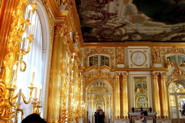 Анфилада в Екатерининском дворце / Екатерининский дворец Санкт-Петербург экскурсия / ketvilz.ru