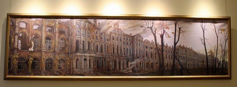 Разрушенный во время Второй мировой войны Екатерининский дворец / Екатерининский дворец Санкт-Петербург экскурсия / ketvilz.ru
