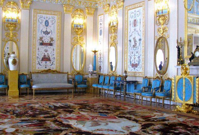 Голубая комната в Екатерининском дворце / Екатерининский дворец Санкт-Петербург экскурсия / ketvilz.ru